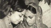 Farida Jalal with shy bride Jaya Bachchan at her wedding. See pic