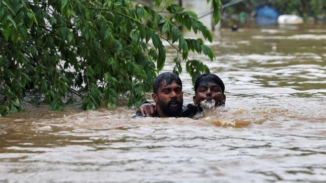 PM Modi arrived in Thiruvananthapuram on Friday night to see for himself the rain-battered Kerala and also survey the relief and rescue operations. (Photo: Reuters)