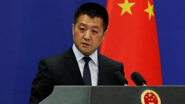 Chinese Foreign Ministry spokesman Lu Kang during a news conference in Beijing, China. (Photo: Reuters)