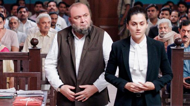 Mulk movie review: Rishi Kapoor and Taapsee Pannu in a still from the film