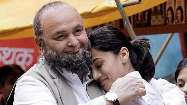 Rishi Kapoor and Taapsee Pannu in a still from Mulk