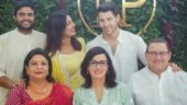 Siddharth Chopra, Priyanka, Nick Jonas, Madhu Chopra, with Denise-Miller Jonas and Kevin Jonas