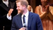 Prince Harry sings a Hamilton song onstage Photo: Instagram/dailypaps