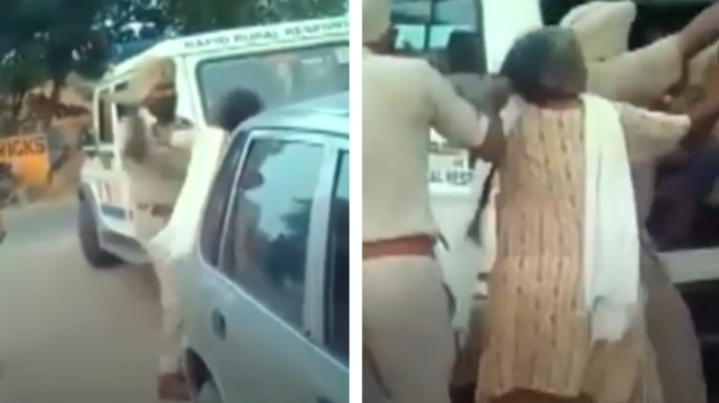 Punjab policeman thrashes elderly woman, drags her by her hair