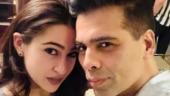 Karan Johar welcomes Sara Ali Khan on Instagram with an adorable post