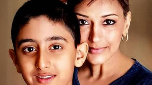 Sonali Bendre with son Ranveer