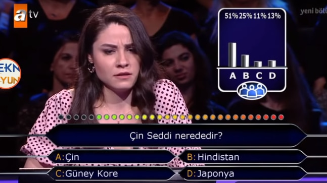 Turkish KBC contestant stumped by Where is Great Wall of China question