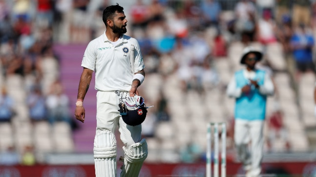 Virat Kohli top-scored for India in the second innings with 58 runs (Reuters Photo)