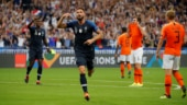 Olivier Giroud celebrates after scoring the winner against Netherlands (Reuters Photo)