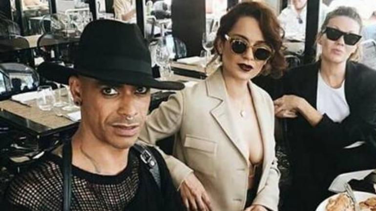 Photo: 42-year-old Brendon Allister De Gee with Kangana Ranaut