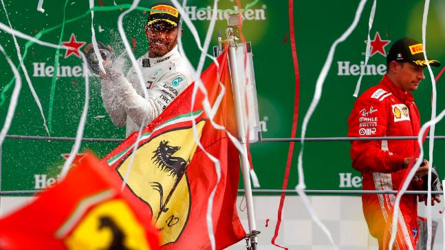 Lewis Hamilton had started the Italian GP in third position, behind Kimi Raikkonen and Sebastian Vettel (AP Photo)