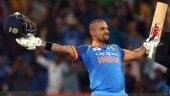Shikhar Dhawan brought up his hundred off 95 balls against Pakistan