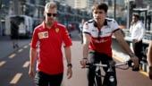 Charles Leclerc (right) will take Kimi Raikkonen's seat at Scuderia Ferrari next season (Reuters Photo)