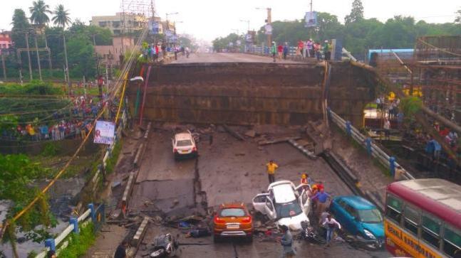 The Majerhat Bridge is located in Diamond Harbour Road in Kolkata.