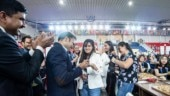 Niklesh Jain went down on one knee with a ring and asked star Colombian chess player Angela Lopez if she would marry him.