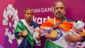 Pranab Bardhan (60) and Shibnath Sarkar (56) topped the points table in the men's pair event with 384 points