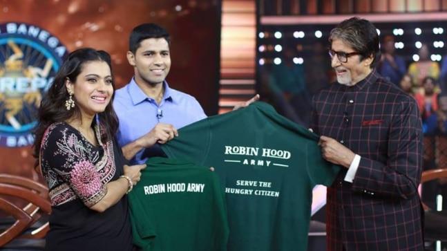 Image result for Kajol and Neel Ghose with Amitabh Bachchan