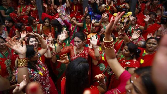 Haryali Teej is celebrated around the country Photo: reuters