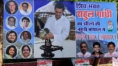 A banner in Bhopal proclaiming Rahul Gandhi as Shiv bhakt. (Photo: ANI)
