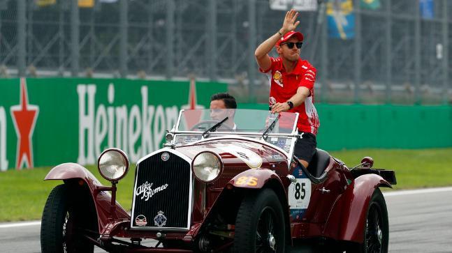 Sebastian Vettel, Ferrari's premier contender for Formula One Championship, finished fourth at Italian Grand Prix. (AP Photo)