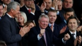 Sir Alex Ferguson came to Old Trafford for the first time since April this year. (Reuters Photo)