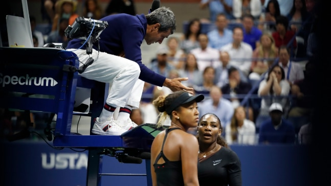 Serena Williams took the house down at the US Open final after chair umpire warned her for coaching violation. (Reuters Photo)