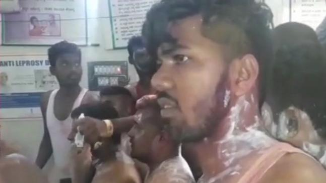 ACID ATTACK in Congress Victory Rally in Karnataka - More than 10 Injured