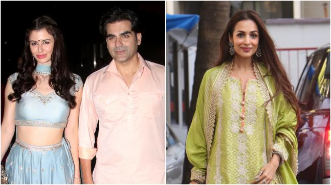 There was absolutely no awkwardness between Arbaaz Khan's new girlfriend Giorgia Andriani and his ex-wife Malaika Arora.