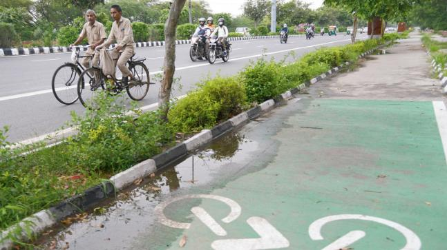 No place for cyclists in Delhi