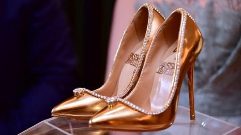 e447b6bcea The world's most expensive shoes unveiled in Dubai. What is the cost ...