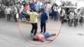 Man hacked to death on busy Hyderabad road in front of cop car. Murder caught on camera