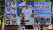 Shiv Bhakt Rahul posters up in Bhopal as Congress chief holds road show