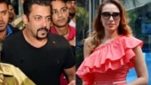 Salman Khan and Iulia Vantur get mobbed at Jaipur airport.
