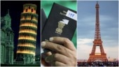 Indian passport holders can travel to 26 European countries on a Schengen visa. The Leaning Tower of Pisa in Italy (L) and the Eiffel Tower in Paris (R). Photos: Reuters