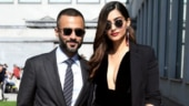 Sonam Kapoor stuns Milan in ebony-black gown with a plunging neckline