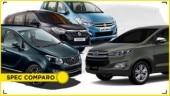 Mahindra Marazzo vs Maruti Ertiga vs Toyota Innova vs Renault Lodgy spec comparo