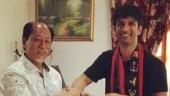 Sushant Singh Rajput with Nagaland Chief Minister Neiphiu Rio