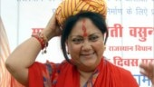 Ahead of Rajasthan elections, Vasundhara Raje distributes laptops, cycles