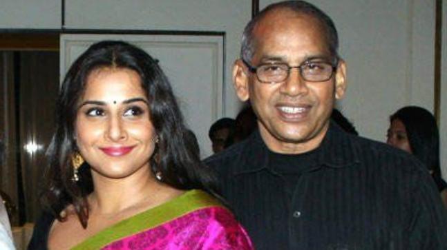 Vidya Balan with her father PR Balan