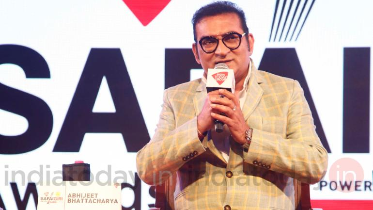 Abhijeet Bhattacharya at the India Today Safaigiri Summit and Awards 2018. (Photo: Danesh Jassawala)