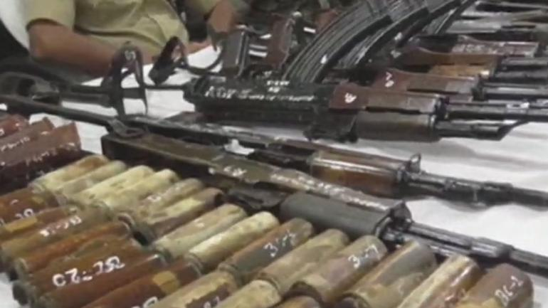 bihar 20 ak 47 rifles recovered from wells in munger india news