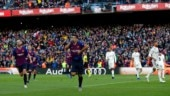 Suarez scored in the 30th (penalty), 75th and 83rd minute for Barcelona (AP Photo)