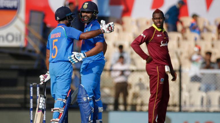 Image result for ambati rayudu india vs west indies mumbai 2018