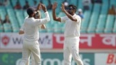Ravichandran Ashwin picked up 6 wickets in the first Test in Rajkot against Saurashtra