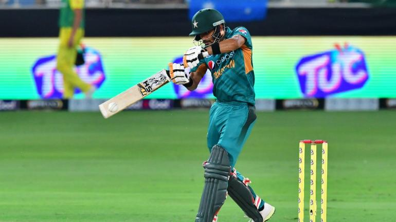 Babar Azam scored 50 off 40 balls in the third T20I against Australia (photo - getty)