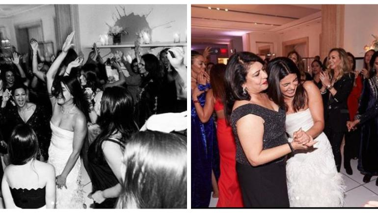 A video of Priyanka Chopra dancing with mom Madhu and mom-in-law to be Denise Jonas is going viral.