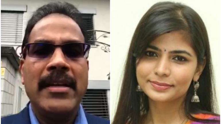 Organiser Suresh and Chinmayi