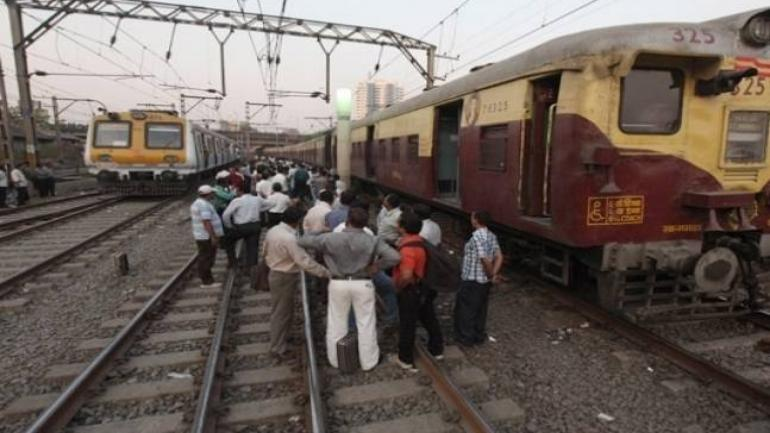The movement of train on all the three tracks were blocked for couple of hours after the incident took place