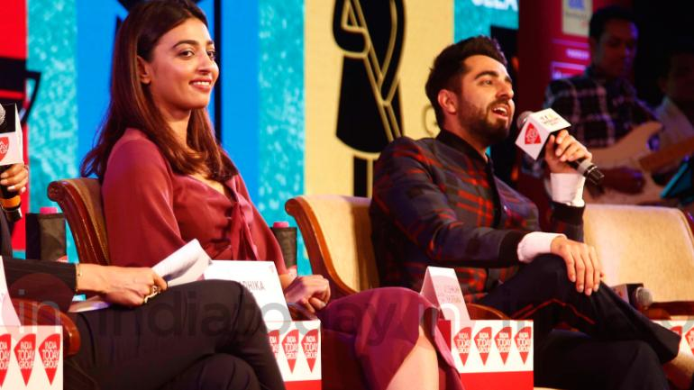 Radhika Apte and Ayushmann Khurrana at Safaigiri 2018. Photo: Danesh Jassawala