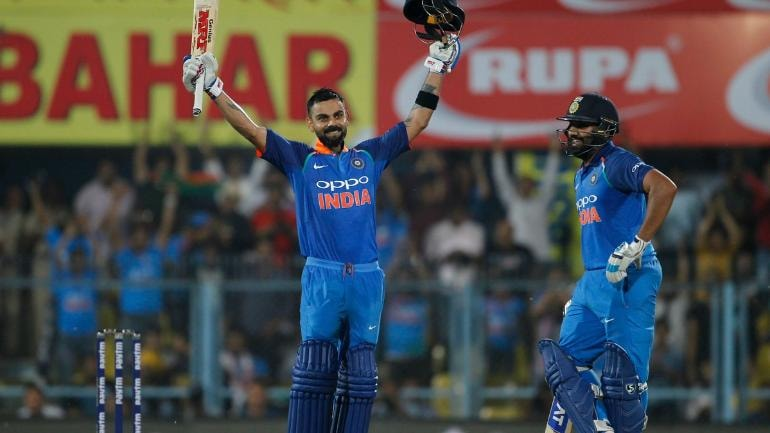 Virat Kohli and Rohit Sharma hit centuries to flatten West Indies in the first ODI (BCCI Photo)